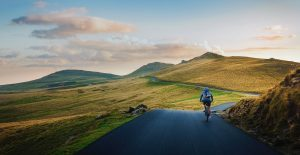 Cyclist in the Peak District
