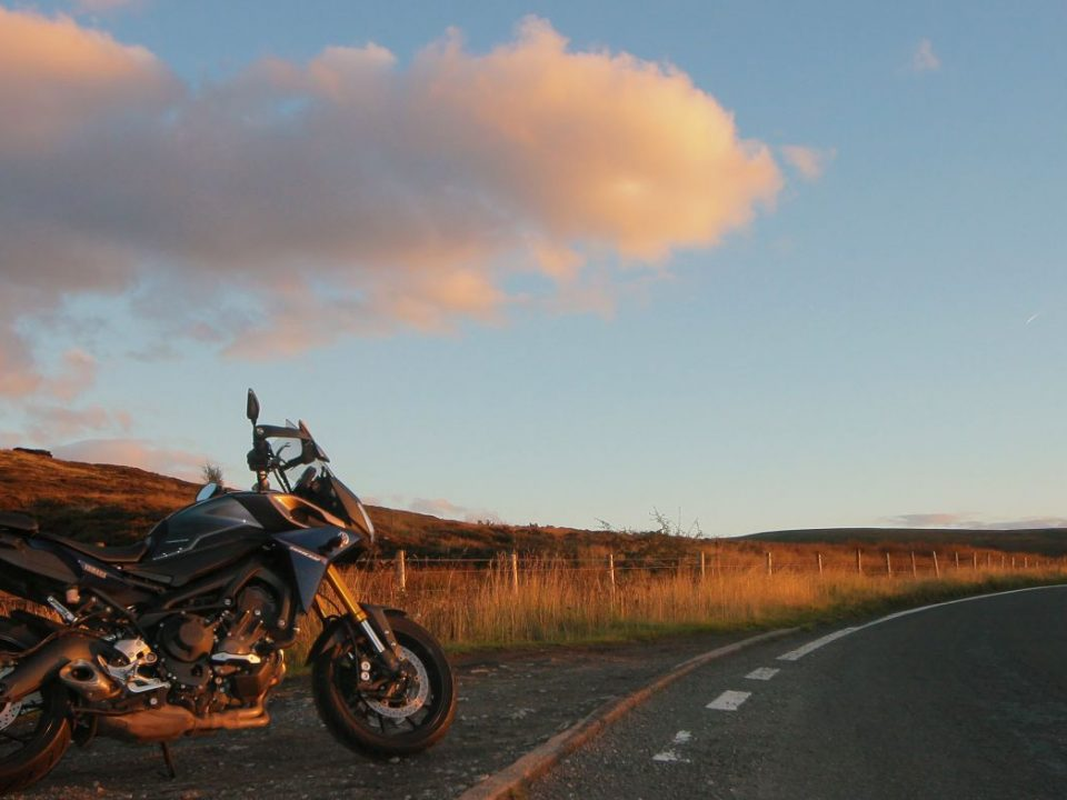 motor bike in the peak district